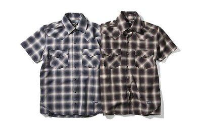 全新正品 MANIA 13S/S Western Checked Shirt 藍色 SZ:S 原價1800