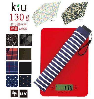 Ariels Wish日本KIU短折傘短傘雨傘陽傘防曬遮陽抗UV紫外線深藍黑色星星點點60cm超輕量130g加大版現貨