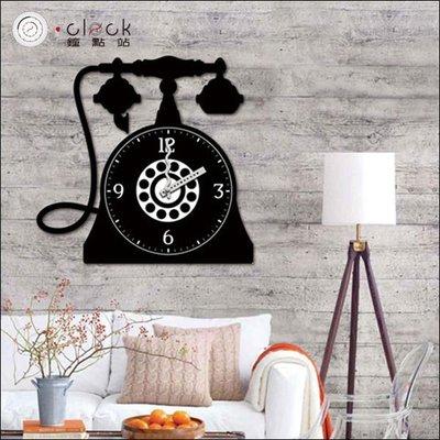 【鐘點站】黑白復古話筒 DIY 創意壁貼 掛鐘 大時鐘 靜音掃描 壁紙 牆壁貼鐘 25A032
