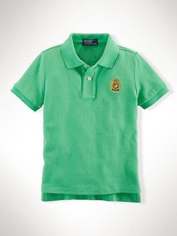 全新美國 Ralph Lauren Polo 綠色徽章刺繡短袖 polo衫 大童L