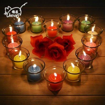 求愛表白蠟燭香薰燭臺玻璃杯生日燭光晚餐DSHY   全館免運