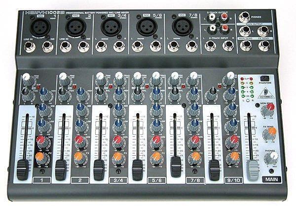 【六絃樂器】全新 Behringer XENYX 1002B 耳朵牌可裝電池10軌混音器 / 舞台音響設備 專業PA器材