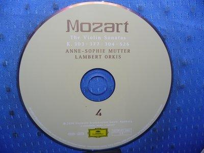 [無殼光碟]BI  MOZART ANNE SOPHIE MUTTER  MADE IN GERMANY 共4張CD