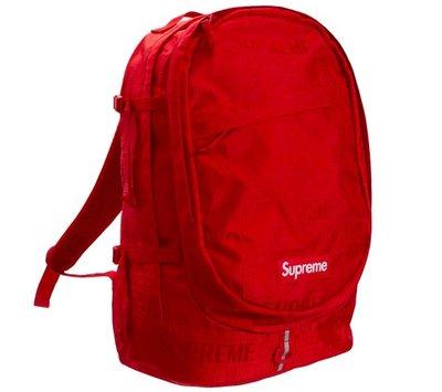 [現貨預購] Supreme Backpack (SS19) Red 紅色後背包書包