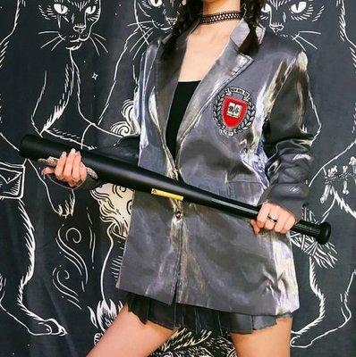 【黑店】原創設計 訂製款灰色亮絲西裝外套 森女系制服外套 日系JK制服學院風西裝外套 COSPLAY用 MB280
