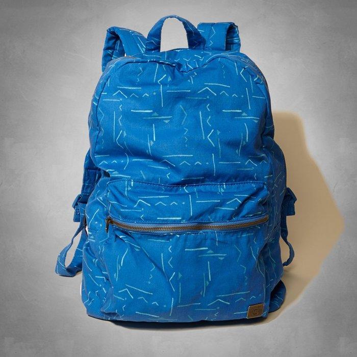 【HOLLISTER Co.】【HCO】HC男款後背包滿版幾何線圖寶藍 F09150420-09-F