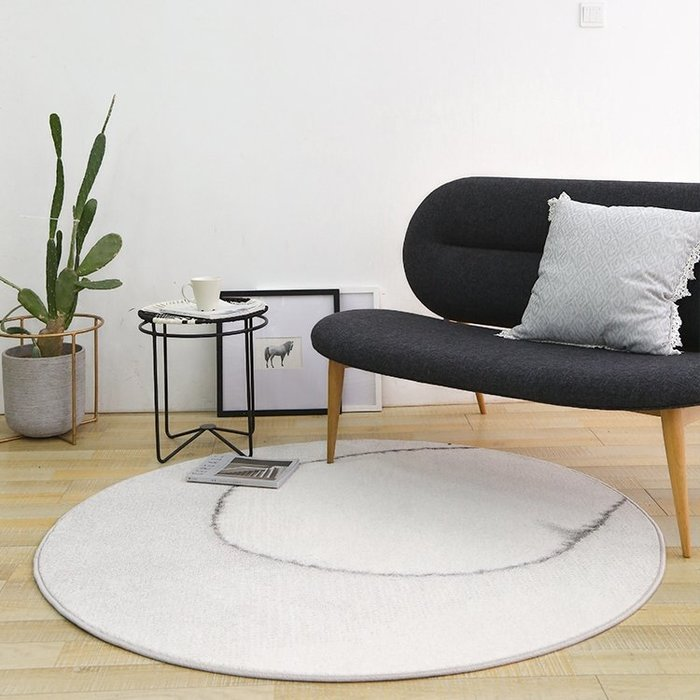 【Uluru】北歐現代簡約圓形地毯 毯子 客廳毯 北歐清新 創意 床邊 客廳 臥室 傢飾軟件 配件