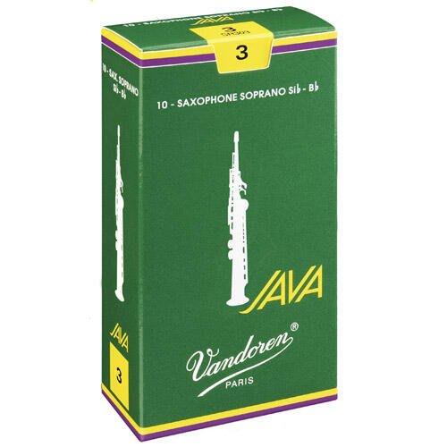 【現代樂器】法國包裝 Vandoren Java (綠盒)高音薩克斯風Soprano Saxophone 3號 竹片