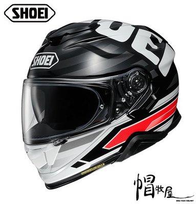 【帽牧屋】日本 SHOEI GT-AIR II INSIGNIA TC-1 全罩安全帽 公司貨 內置墨片 透氣 黑/紅