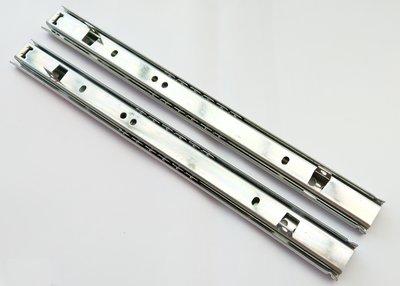 400mm 2截 鋼珠滑軌 抽底 滑軌 抽屜 電腦桌 可配合鐵片