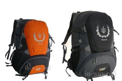 挪威品牌 INWAY 登山背包 自行車背包 登山包 弓型超透氣網背負系統 保固2年 Monterra35 橘色