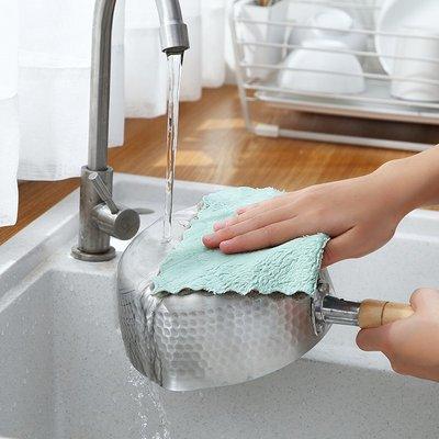 廚房寶!!!家用易清洗加厚強吸水洗碗布不掉毛百潔布廚房去油清潔不沾油抹布