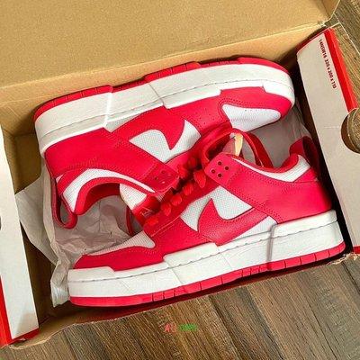 Nike Dunk Low Disrupt 白紅 休閒鞋 板鞋 白紅 女款CK6654-601 現貨