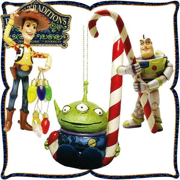 ♥心樂格格♥♫Disney Traditions  迪士尼 [玩具總動員 三入組 木雕風景品 模型 禮品]全新美版稀有品