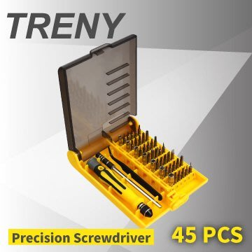 【TRENY】精密螺絲起子組-45合1(精密起子) 套裝組 附收納盒 加長桿 手錶 3C 手機 電腦 0516B