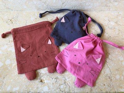 日本卡拉貓~隱形貓咪束口收納袋 生理包 萬用袋