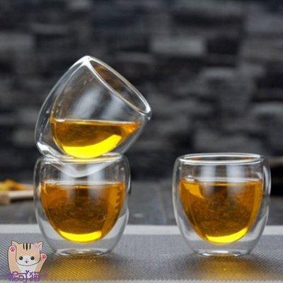 ~現貨~蛋形雙層玻璃杯 保溫隔熱 水杯 咖啡杯 茶杯 高硼矽耐熱杯 80ml【丹麥-Bodum、星巴克可參考】