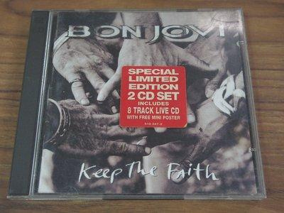◎MWM◎【二手CD】Bon Jovi- Keep The Faith 內圈德版,無ifpi,2CD,有歌詞,刮痕細紋