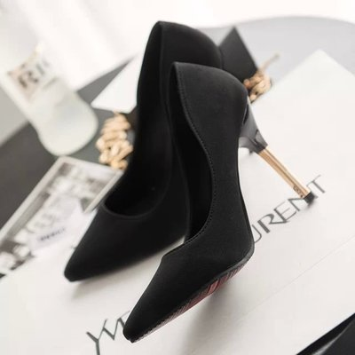 尖??跟高跟鞋女春夏新款性感夜店??超高跟鞋女?跟10cm