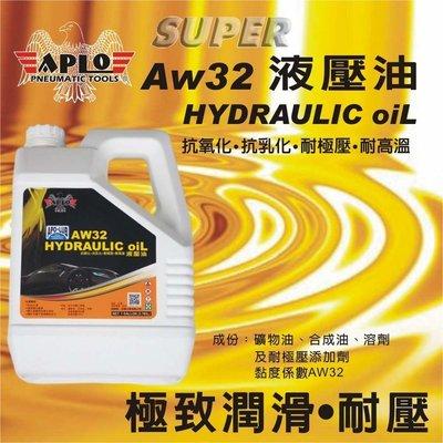 附發票(東北五金)日本APLO 專業級液壓油 AW68 極致潤滑.耐壓.抗氧化效果極佳 (1加侖)