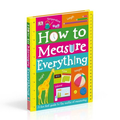 DK如何巧量度 英文原版 How to Measure Everything 趣味數學量度繪本 紙板書 翻翻書 6-12