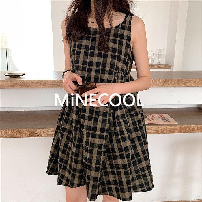 MiNE SHOP韓國 M42 實拍 chic娃娃吊帶裙 圖色 均碼