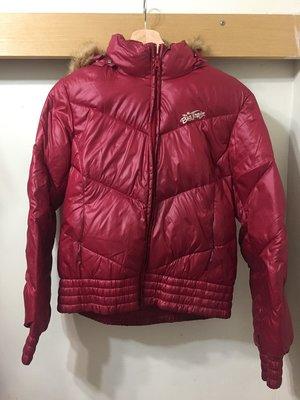 [二手] big train 紅酒江羽絨外套 down jacket