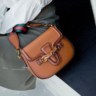 EmmaShop艾購物-正韓連線空運來台-復古風百搭馬鞍包/雙肩帶(小款)斜背包