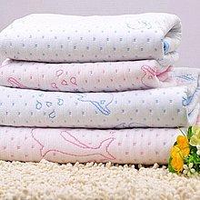 寶媽咪~純棉加厚四層夾棉防水隔尿墊/嬰兒床隔尿墊/月經墊/看護墊/保潔墊70*118