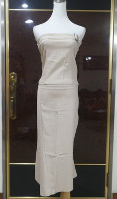 °☆ 珮齊精品舖 ☆° 正韓 - 米色條紋二件式平口套 / 裙裝
