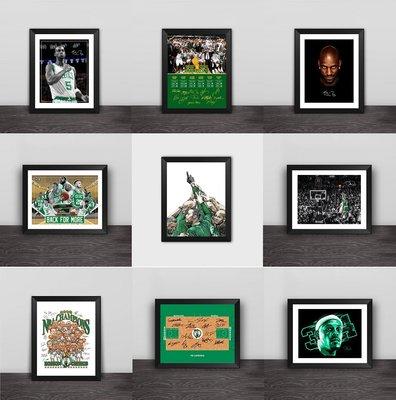 世界杯YYDS~凱爾特人奪冠皮爾斯加內特球迷紀念相框藝術畫 臺擺桌擺照片墻
