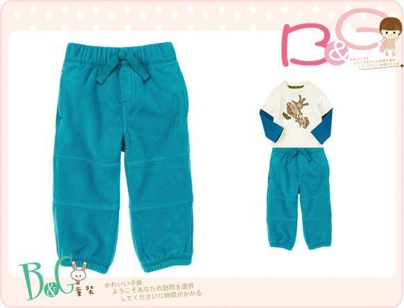 【B& G童裝】正品美國進口GYMBOREE Microfleece Active Pants 藍色刷毛長褲12-18mos