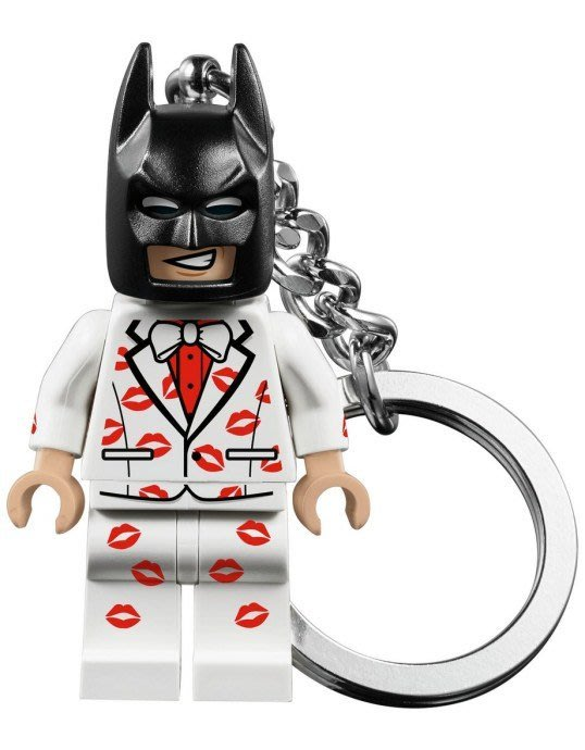 現貨【LEGO 樂高】全新正品 積木 鑰匙圈 人偶 吊飾/ 唇印 白色西裝 蝙蝠俠 黑暗騎士 Batman 袋裝