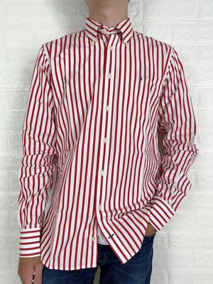 Look 鹿客 Tommy Hilfiger 男款 修身條紋休閒襯衫