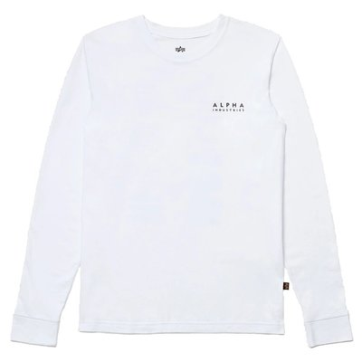 【A-KAY0】ALPHA BLOOD CHIT L/S TEE WHITE 薄長T 白【UTB49003G1WH】