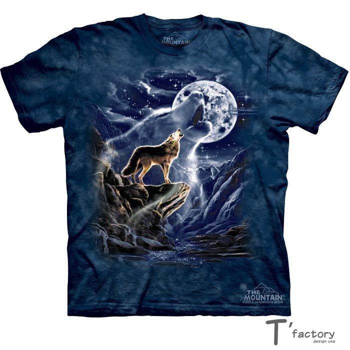 【線上體育】The Mountain 短袖T恤 S號 狼魂月亮