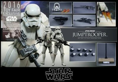 金錢貓雜貨全新 HOT TOYS 12吋 VGM23 星際大戰 戰場前線 帝國風暴兵 Jumptrooper 飛行 白兵