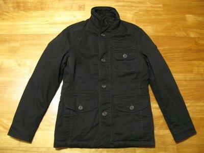 ESPRIT 黑色 高機能 M-65 邊緣舊化風格 軍裝外套[ IDEAL拉鍊 全新真品 ]S