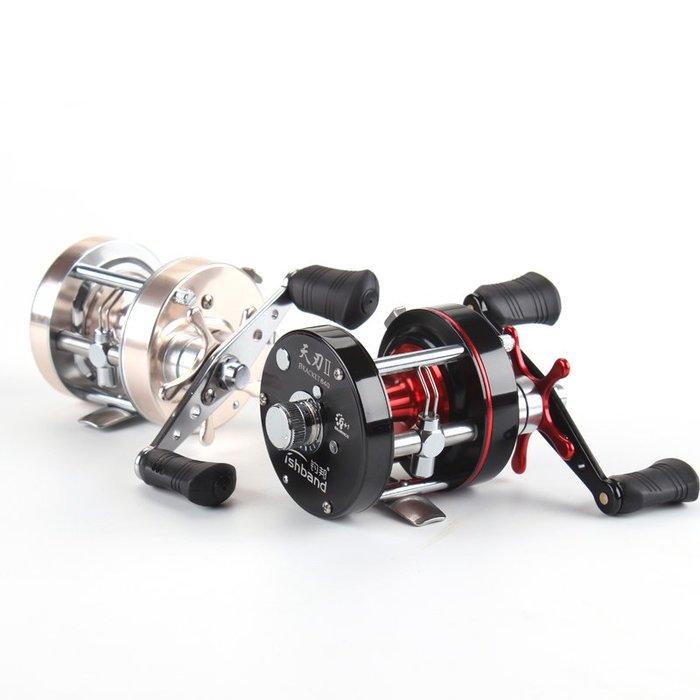 天刃二代鼓式捲線器雷強捲全金屬鼓捲路亞捲線器打雷打虎雷強雙軸捲線器