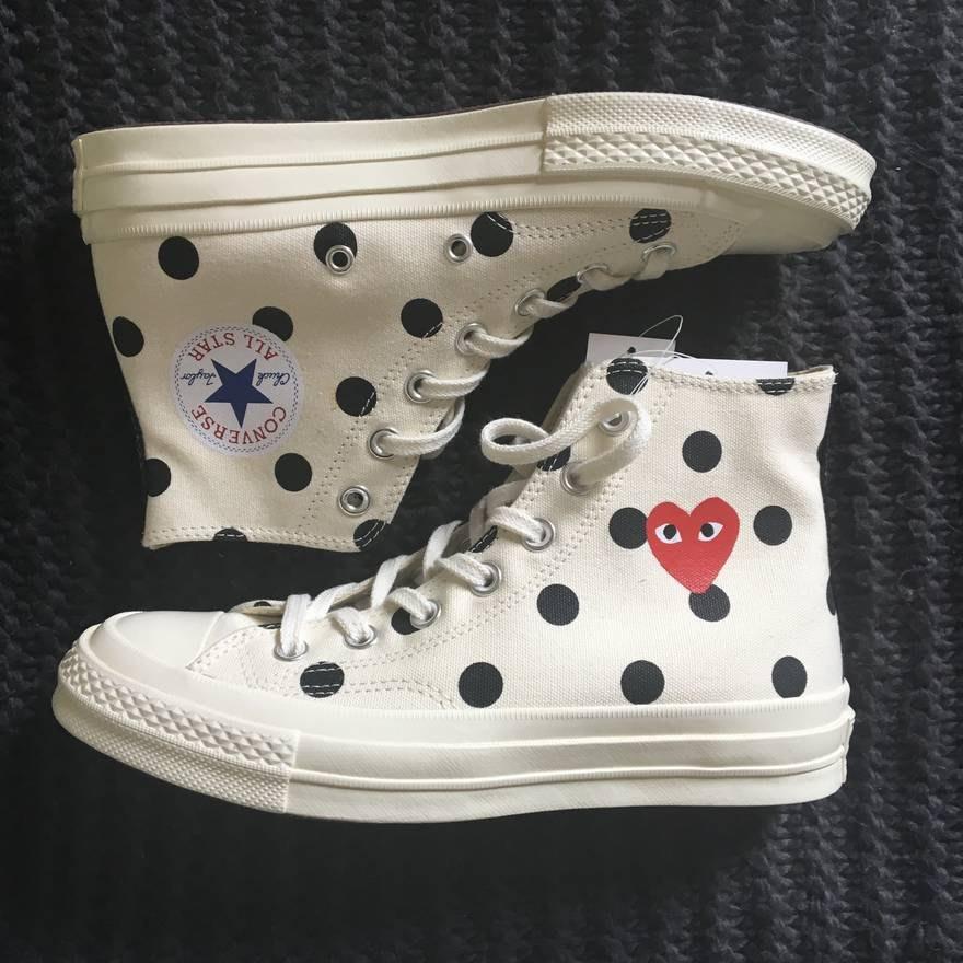【美國鞋校】 預購 Converse 70s Comme des Garcons Polka Dot 白 高筒 川久保玲