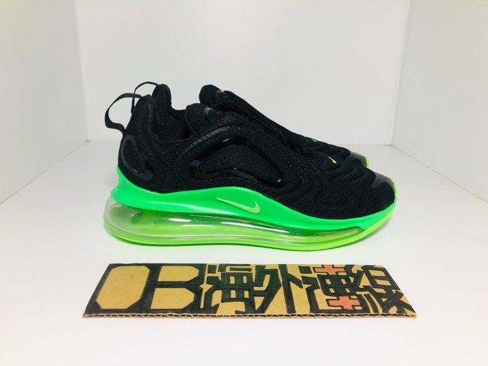 【OB海外連線】Nike Air Max 720 黑 全黑 螢光綠 氣墊 網面 軟底 慢跑鞋 男女 AO2924-018