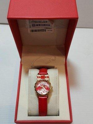 全新【三麗鷗】日本 美樂蒂Melody 兒童錶 手錶 專櫃(授權真品)紅 造型淑女錶 凱蒂貓20th