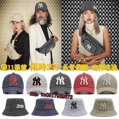 【PD帽饰】紐約洋基隊 韓國MLB 印花NY腰包 NY老帽 刺繡LOGO 漁夫帽 太陽帽 棒球帽 鴨舌帽 胸包 腰包 側背包 洋基帽