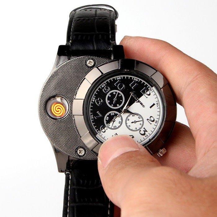 手錶點菸器667 經典時尚男性手錶 造型打火機 點煙器【GF459】☆EZ生活館☆