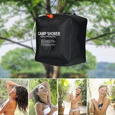 【NF337】40L太陽能淋浴袋 戶外野營淋浴水袋 露營登山必配 洗髮洗澡太陽能熱水袋帶噴頭