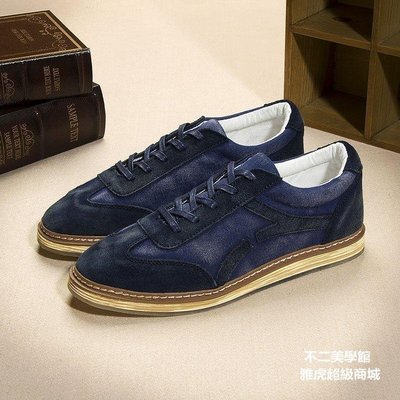 【格倫雅】~秋男士休閑鞋帆布鞋男板鞋英倫風復古板鞋男鞋子38080[g-l-y67