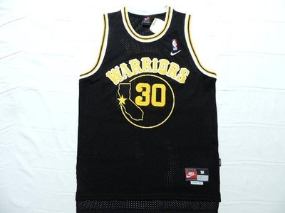 網眼電繡Golden State Warriors勇士隊#30號Stephen Curry柯瑞 球衣 舊金山 黑