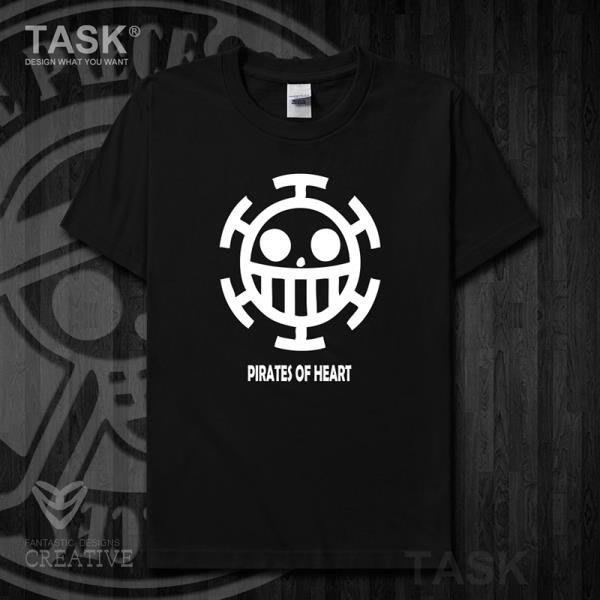 TASK ONE海賊王PIECE純棉短袖t恤男特拉法爾加羅海賊團衣服夏季15-0001
