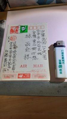 林兩全 台灣峰雲奇名人 1996年 加藤憲司 教授 致台友人含郵實寄片 郵戳 銘馨易拍 PP052 老資料書信文件 如圖