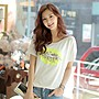 =EZZ=早班車13017 韓國 首爾時尚精品 東大門同步上新韓版女T恤 高檔絲光棉韓版女T恤